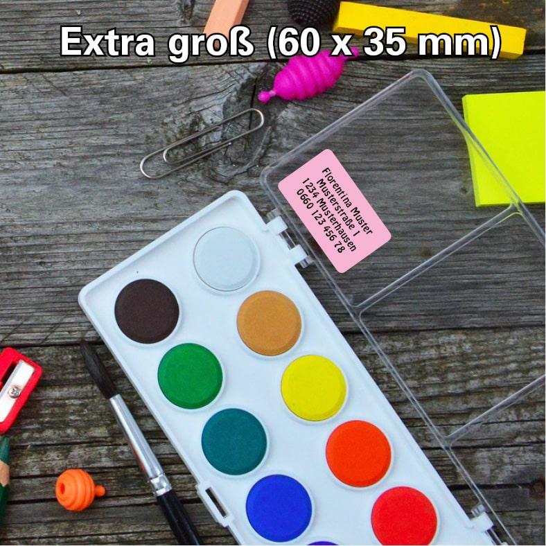 Etikett-Extra-gross